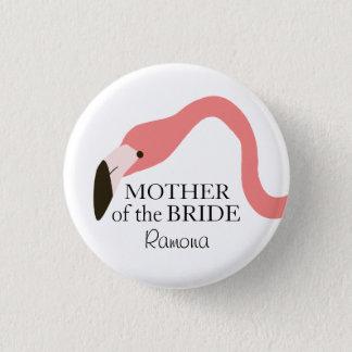 Mère fantaisie de flamant rose de la jeune mariée badges