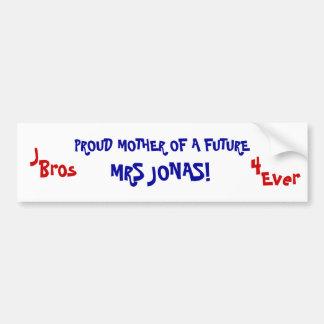 MÈRE FIÈRE D'UN AVENIR, MME JONAS ! , J, Bros,… Autocollant Pour Voiture