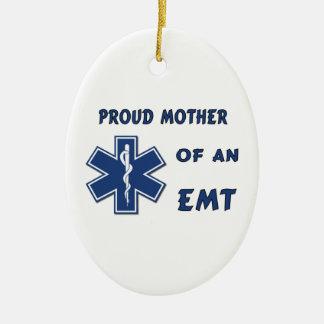 Mère fière d'un EMT Ornement Ovale En Céramique