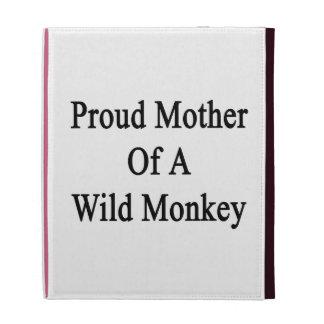 Mère fière d'un singe sauvage coques iPad