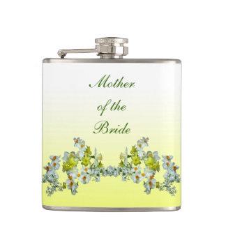 Mère florale jaune de mariage de la jeune mariée flasques