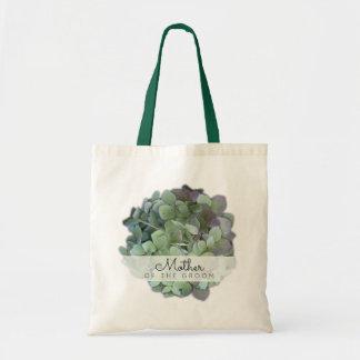 Mère florale verte de mariage du marié sacs de toile