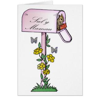Mère, le jour de mère, écureuil mignon, languag de carte de vœux