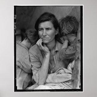 Mère migratrice Florence Thompson de Dorothea Posters
