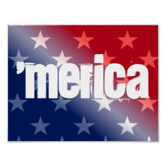"'Merica 11"""" affiche x8.5 Posters"
