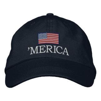 Merica - avec le drapeau des Etats-Unis Casquette Brodée