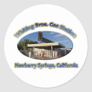 Merlans Bros. Station service Autocollant Rond