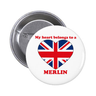 MERLIN BADGE ROND 5 CM