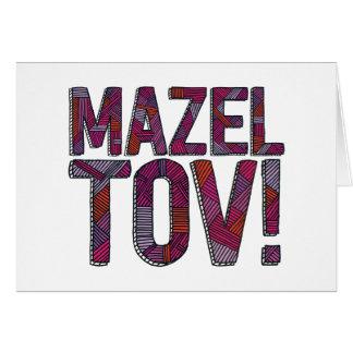 Merlot de patchwork de Mazel Tov Carte De Vœux