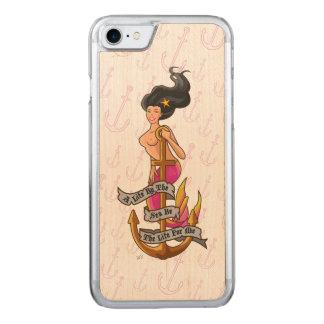 mermaid_mspink_slimwood coque iphone 7 en bois