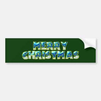 merry christmas adhésif pour voiture