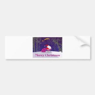 Merry Christmas Autocollant De Voiture