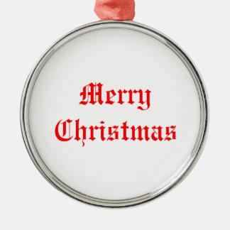 merry christmas ornement rond argenté
