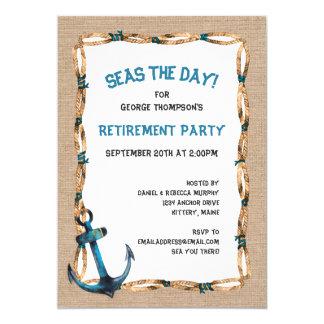 Mers la retraite nautique de jour carton d'invitation  12,7 cm x 17,78 cm