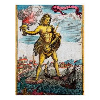 Merveilles du monde antique carte postale