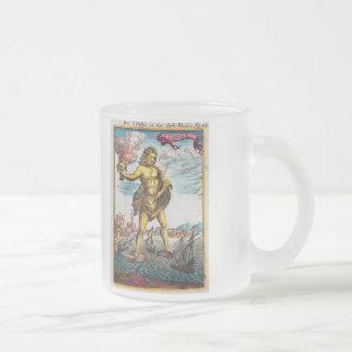 Merveilles du monde antique mug en verre givré