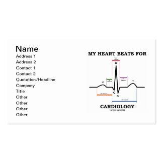 Mes battements de coeur pour la cardiologie ECG E Modèle De Carte De Visite