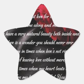 Mes cadeaux doux d'art de poésie de merveille sticker étoile