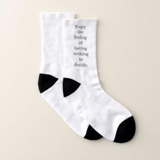 Mes chaussettes de citation de Décision-moins
