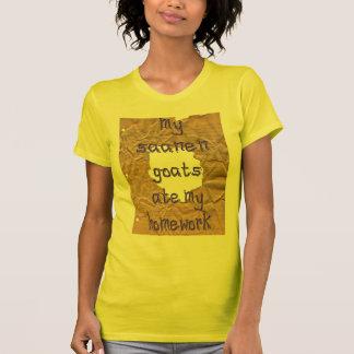 Mes chèvres de Saanen ont mangé mon travail T-shirt