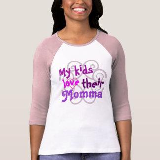 Mes enfants aiment leur T-shirt de mamans