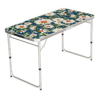 Mes fleurs sur le bleu table beerpong