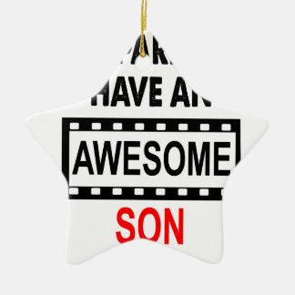 Mes parents ont un fils impressionnant ornement étoile en céramique