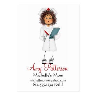 Mes peu de futures cartes de maman d'infirmière carte de visite grand format