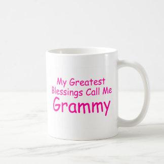 Mes plus grandes bénédictions m'appellent Grammy Mug