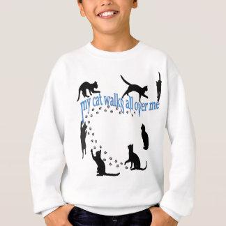 """""""Mes promenades de chat partout je"""" avant et Sweatshirt"""