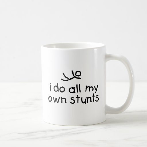 Mes propres cascades idiots tasse à café