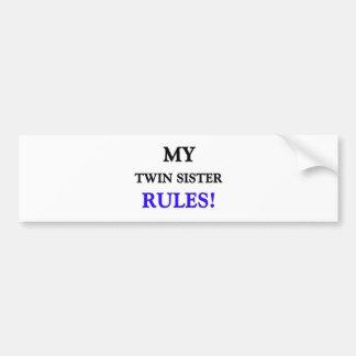 Mes règles de soeur de jumeau autocollant de voiture