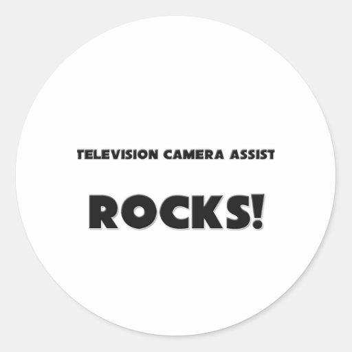 MES ROCHES d'assistant de caméra de télévision ! Adhésif Rond