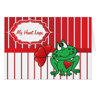 Mes sauts de grenouille de coeur - Valentine Carte De Vœux