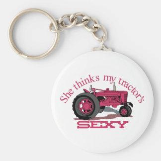Mes tracteurs sexy porte-clé rond