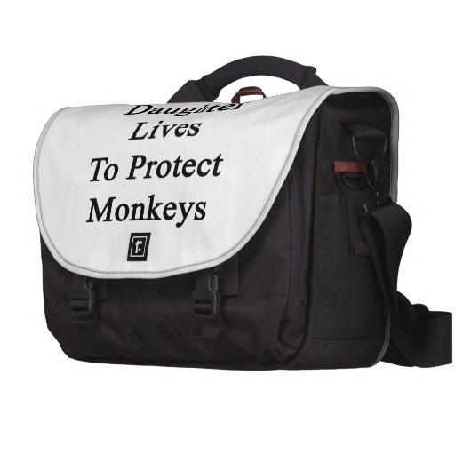 Mes vies de fille pour protéger des singes sacoche pour ordinateur portable