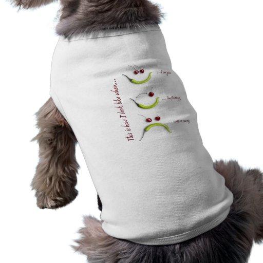 Mes visages drôles tee-shirts pour chien