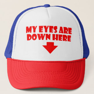 Mes yeux sont en bas ici de casquette