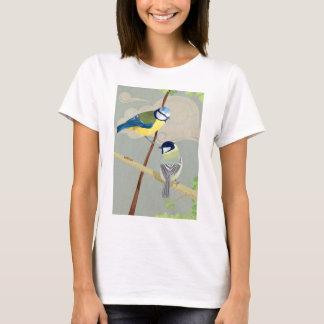 Mésange bleue et grande t-shirt