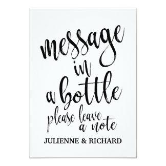 Message dans un signe abordable de mariage de carton d'invitation  12,7 cm x 17,78 cm