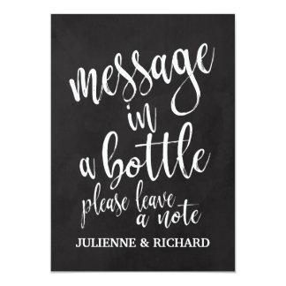 Message dans un signe abordable de tableau de carton d'invitation  12,7 cm x 17,78 cm