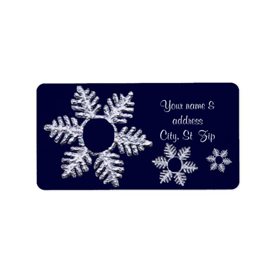 Message de flocon de neige étiquette d'adresse