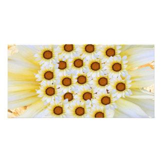 Message de Goodluck avec des fleurs Cartes Avec Photo