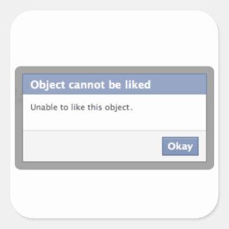 Message d'erreur de Facebook - l'objet ne peut pas Sticker Carré