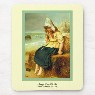 Message du ~ John Everett Millais de mer Tapis De Souris