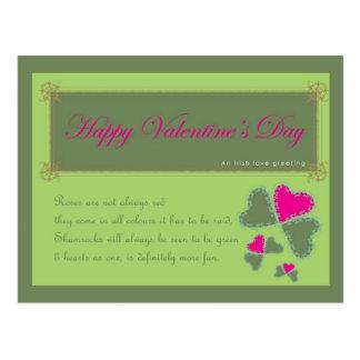 Message irlandais d'amour cartes postales