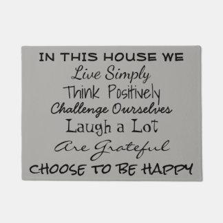 Message positif de la vie - tapis de porte