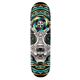 Messager de panda skateboards customisés