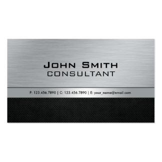 Métal argenté noir moderne élégant professionnel cartes de visite personnelles