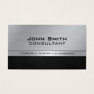 Métal argenté noir moderne élégant professionnel cartes de visite